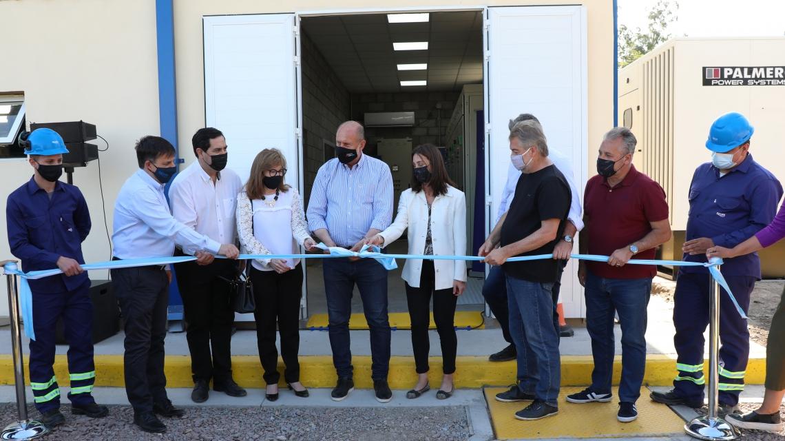 El gobernador Perotti inauguró la nueva estación de bombeo de la empresa ASSA en Reconquista