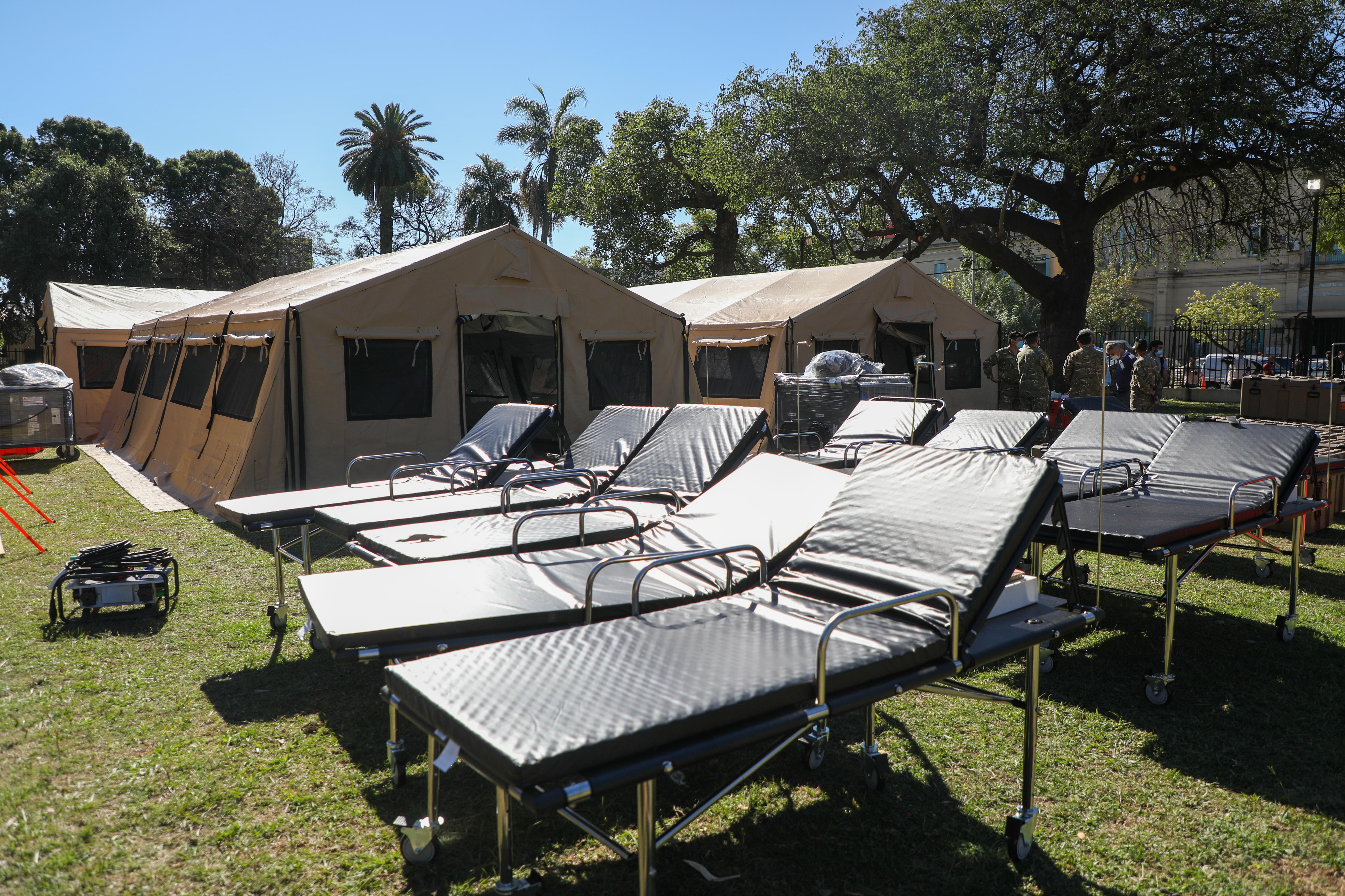 El hospital de campaña frente al Cullen sumará 30 camas generales